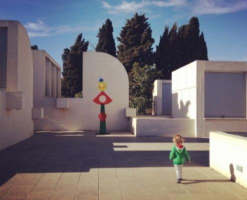 Patio Fundación Miró, en Barcelona