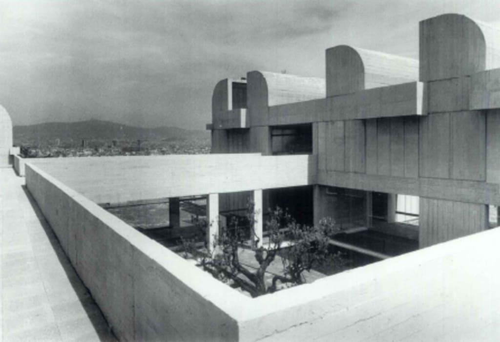 Foto histórica de la Fundación Miró, en Barcelona