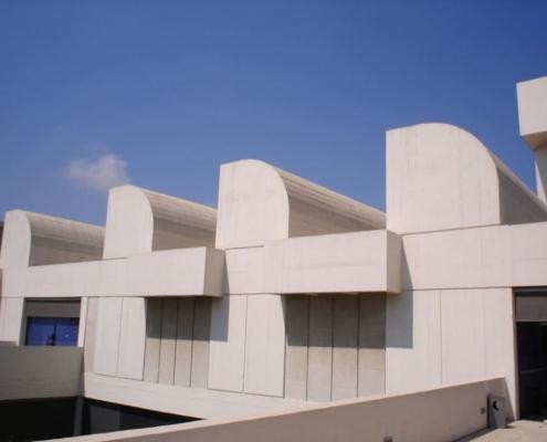 Perspectiva exterior Fundación Miró, Barcelona.