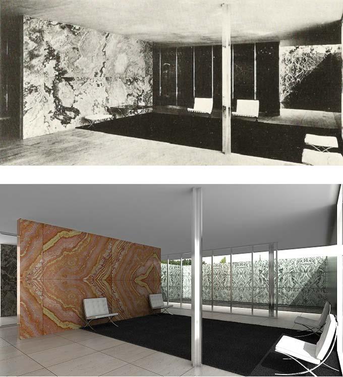 comparativa interior pabellon aleman mies