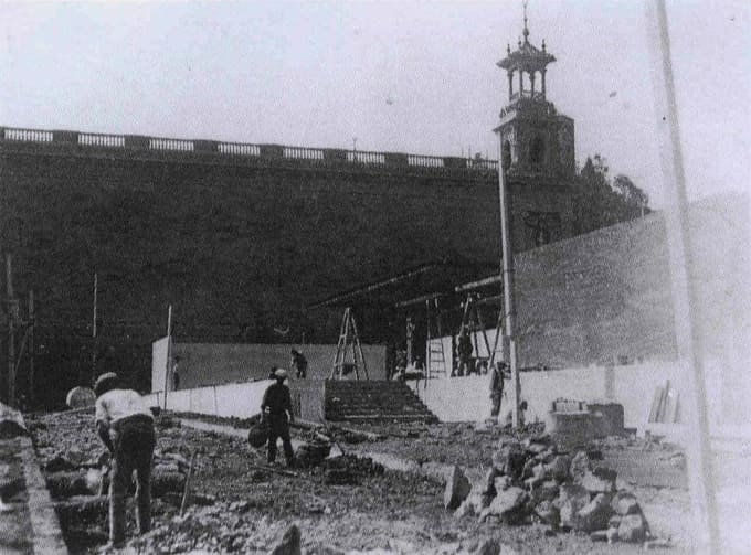 construccion pabellon aleman mies 1929