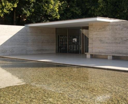 Pabellón Alemán - lámina de agua