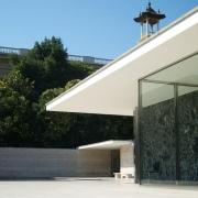Detalle del Pabellón Alemán de Mies en Barcelona