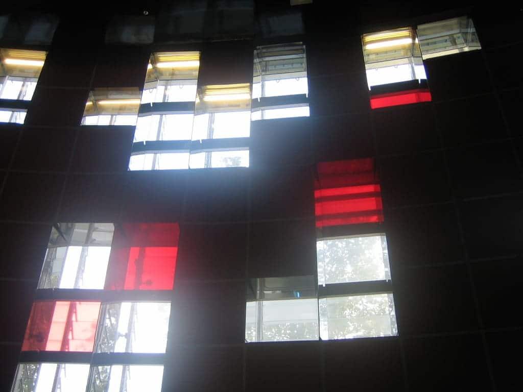 Fachada interior vestíbulo Torre Agbar