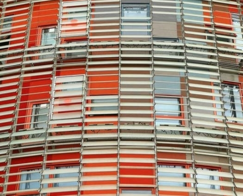 Detalle fachada Torre Agbar