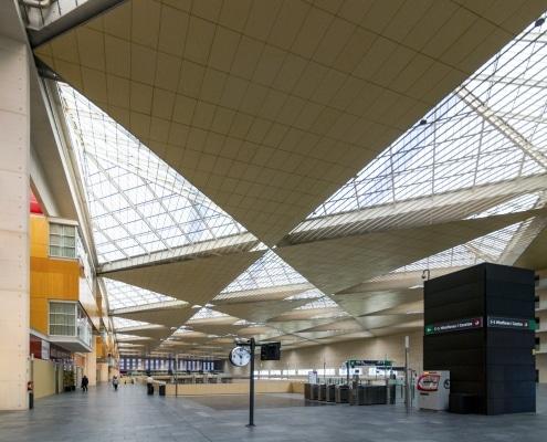 Interior Estación Delicias en Zaragoza, Carlos Ferrater