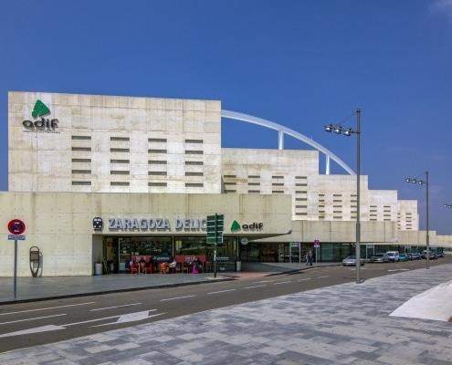 Fachada Estación Delicias de Zaragoza, Carlos Ferrater